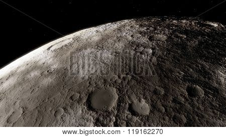 Moon scientific illustration