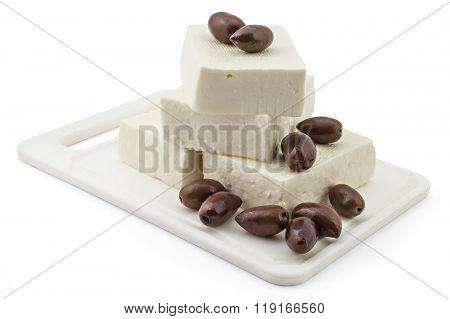 Fresh white cheese
