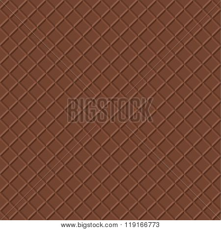 Chocolate Waffle Vector Background