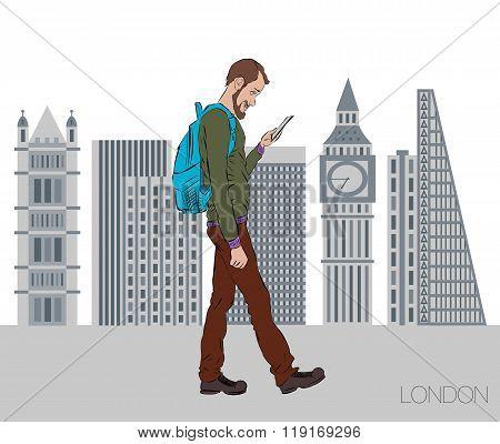 Vector Illustration For Presentation Of Mobile App
