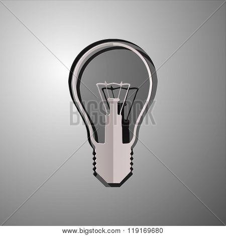 vector illustration of lightbulb, cut paper lightbulb, lightbulb design, lightbulb concept, idea lig