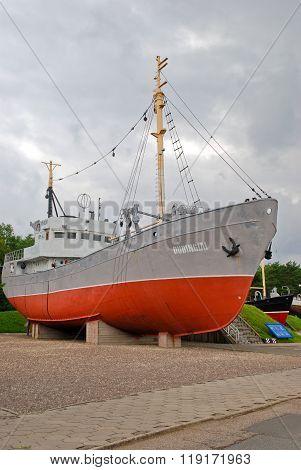 Trawler near the Lithuanian Sea museum