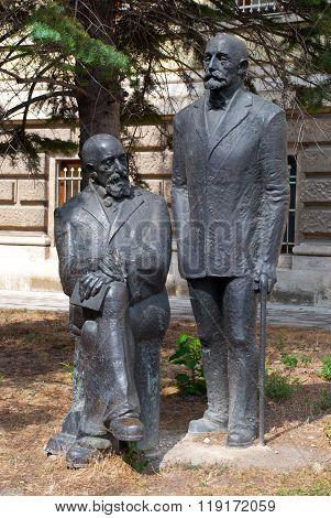 Varna, Bulgaria: July, 2013 -  Monument near Archaeological Museum in Varna, Bulgaria