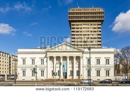 Columns Of The Literaturhaus In Frankfurt, Germany
