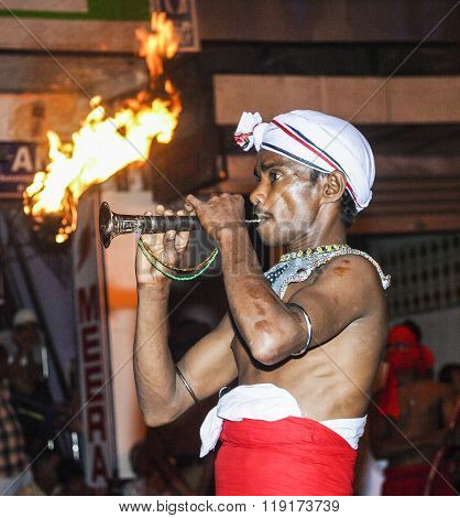 Musician Participate The Festival Pera Hera In Kandy