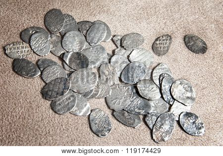 Ancient Coins Of Different Metals
