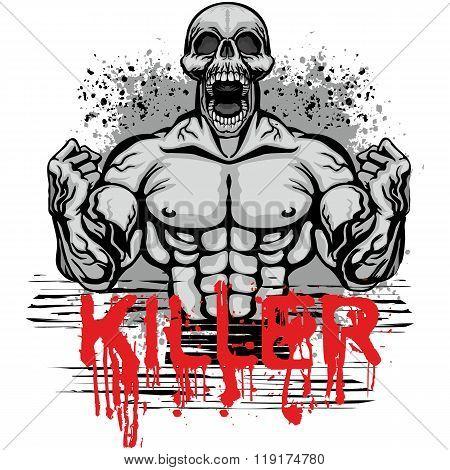 Grunge Skull-