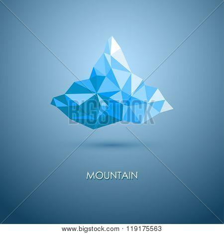 vector illustration of mountain. mountain logo. Triangle mountain. mountain design.