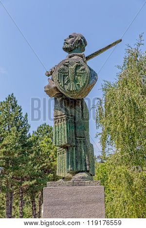 Ivan Crnojevic statue Cetinje