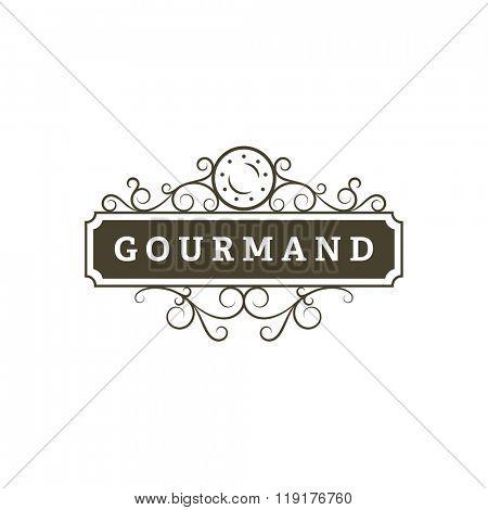 Restaurant vintage banner. Retro emblem