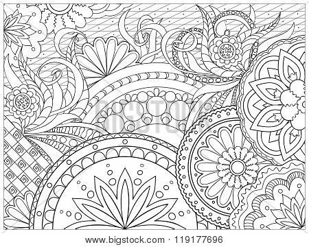 Picture In Zentangle Style