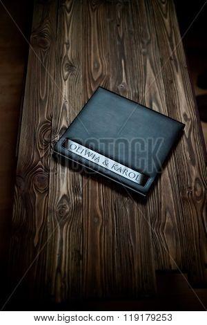 Opened book - photoalbum closeup