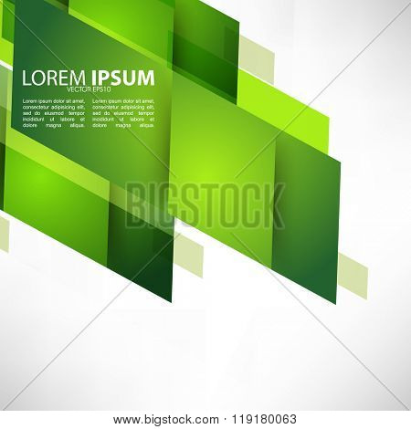 abstract green polygon elements background