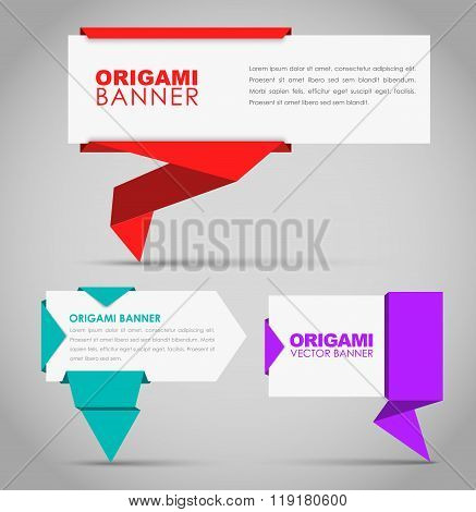 Design Banners In Origami Style