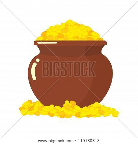 Pot Leprechauns Gold Coins. Wealth Of Fantastic. Pot Full Of Gold. Leprechaun Treasure. St. Patrick'