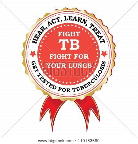 Fight tuberculosis - red ribbon