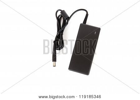 Laptop ac adapter charger power supply isolated on white background