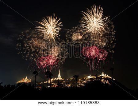 Fireworks Festival At Phra Nakhon Khiri (khao Wang), Phetchaburi, Thailand