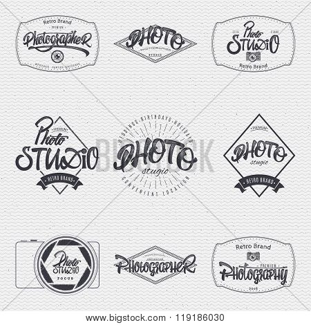 Photographer Photo studio badge insignia for any use such as signage design corporate identity, prin