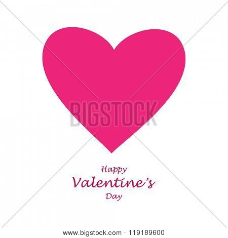 Pink hart.Vector Valentine's Day