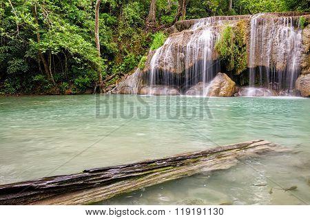 Erawan Waterfalls In Erawan National Park (thailand)
