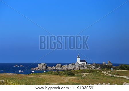 Lighthouse Pontusval, Brittany, France