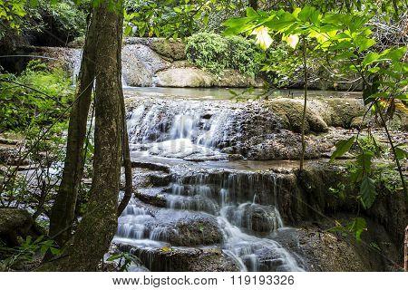 Erawan Waterfalls In Thailand