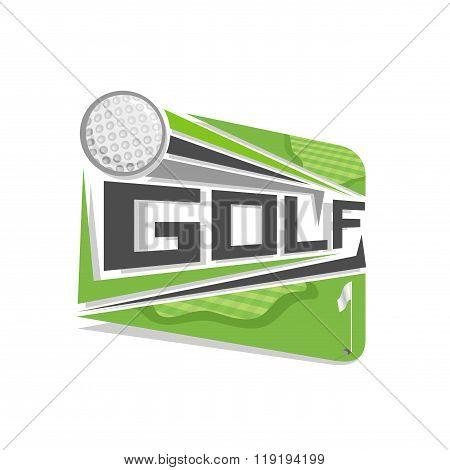 Vector logo for golf sport