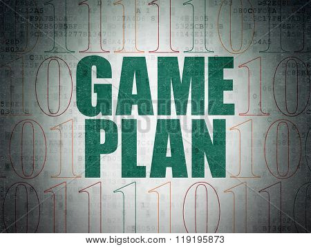 Finance concept: Game Plan on Digital Paper background