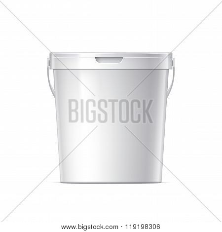 White Blank Plastic Container