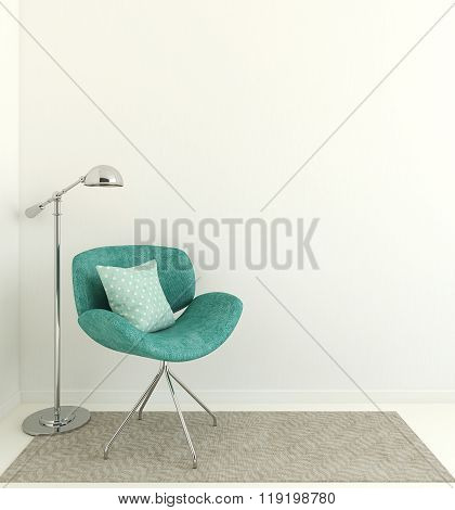Interior With Armchair.3D Rendering.