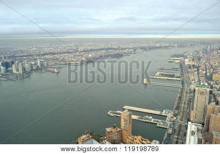 Hudson River - Aerial View.