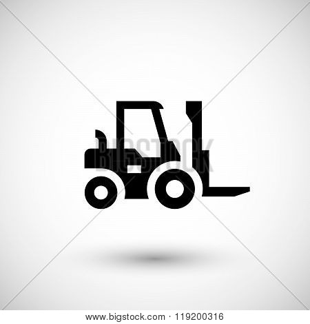 Forklift loader icon