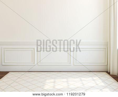 Interior. Empty Room. 3D Rendering.