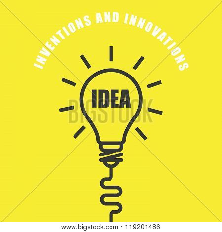 Idea Light Bulb - Symbol Of Innovation And Invitation
