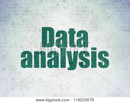 Information concept: Data Analysis on Digital Paper background