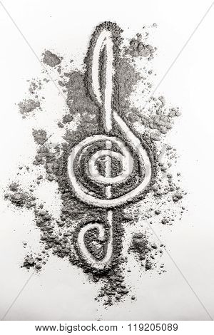 Treble Clef Sign Made In Ash