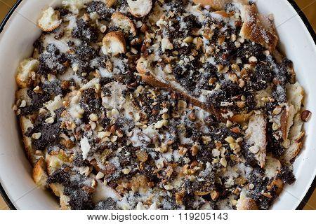 Traditional polish poppy seeds dessert