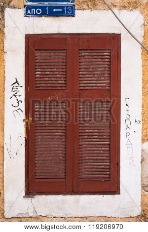 Window With Shutter, Athens, Greece