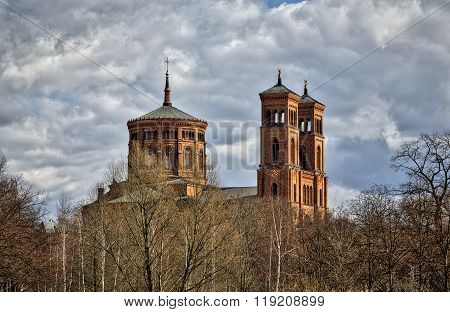Hdr Shot Of A Berlin Church With Cloudscape