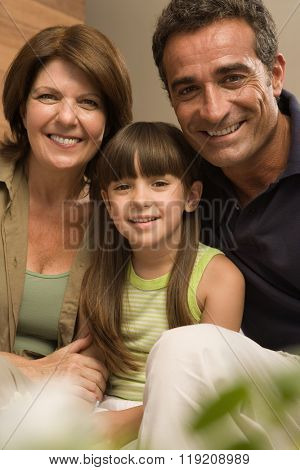 Girl and grandparents