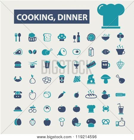 cooking, dinner, restaurant, dining, eating, fast food icons
