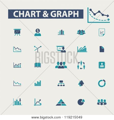 chart, graph, business presentation icons