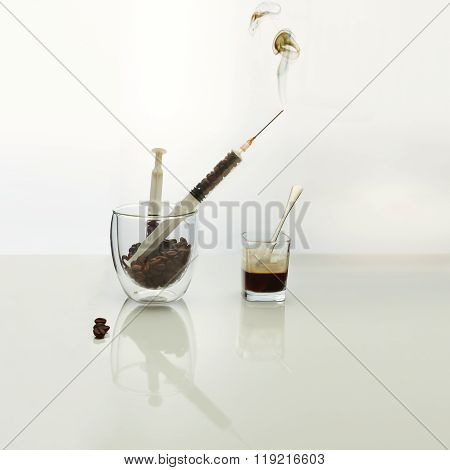 Coffee intravenous drug.