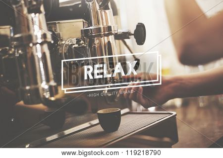 Relax Relaxation Freedom Cafe Coffee Shop Concept