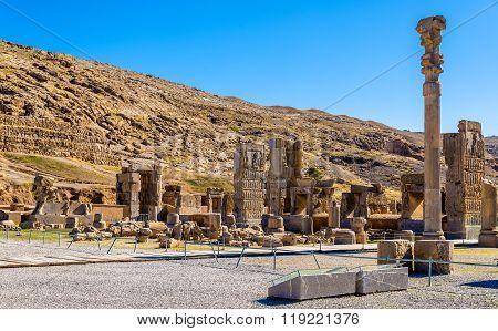 Hall of Hundred Columns in Persepolis, Iran