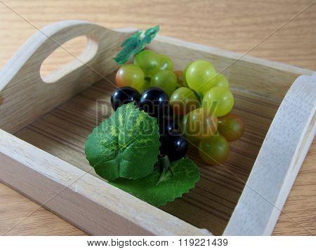 Plastic Black Purple And Green Grapes