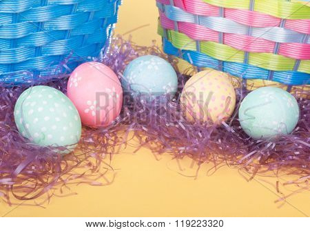 Colorful Easter Egg Border