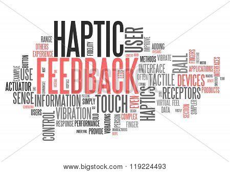 Word Cloud Haptic Feedback