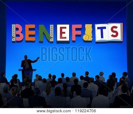 Benefits Advantage Asses Bonus Wages Concept
